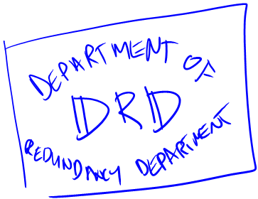Stamp/Logo of the department of redundancy department