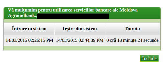MAIB online banking screenshot